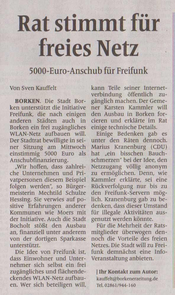 Borkener Zeitung vom 04.02.2016